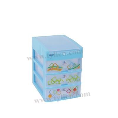 Tủ Nhựa Mini L Trắng Trong 4 Ngăn