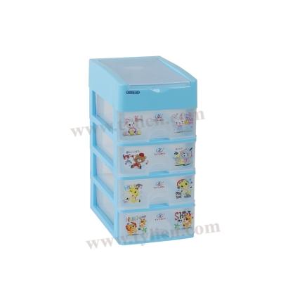 Tủ Nhựa Mini M Trắng Trong 5 Ngăn