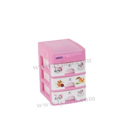 Tủ Nhựa Mini S Trắng Sữa 4 Ngăn