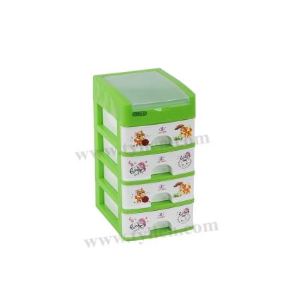 Tủ Nhựa Mini S Trắng Sữa 5 Ngăn